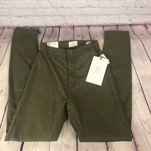 NWT Cotton On High Rise Jegging Dusty Green Jeans